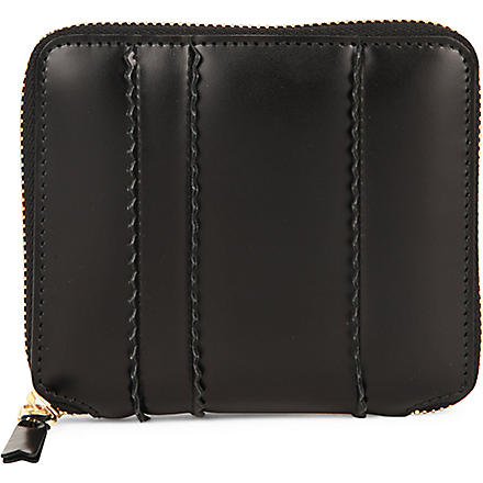 COMME DES GARCONS Zip-around spike wallet (Black