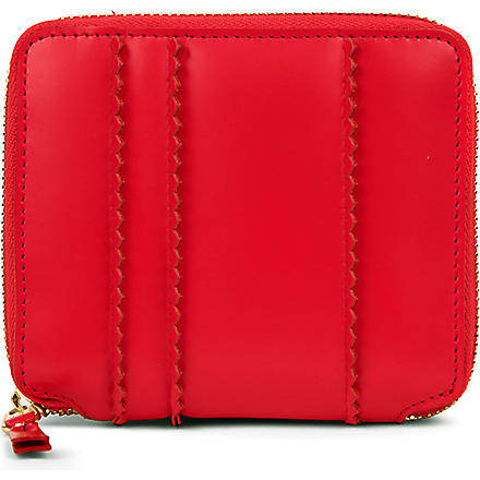COMME DES GARCONS Zip-around spike wallet (Red