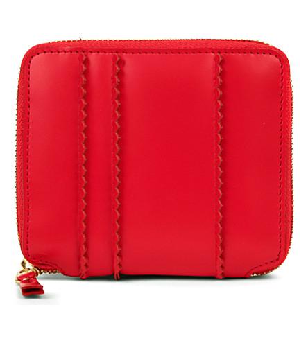 COMME DES GARCONS Zip-around spike wallet (Red