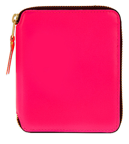 COMME DES GARCONS Square leather wallet (Pink