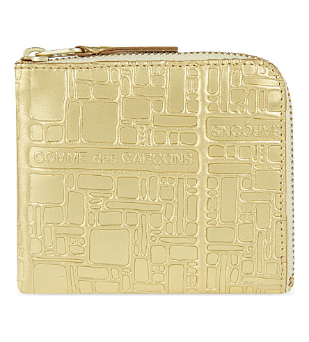 COMME DES GARCONS Embossed purse (Gold