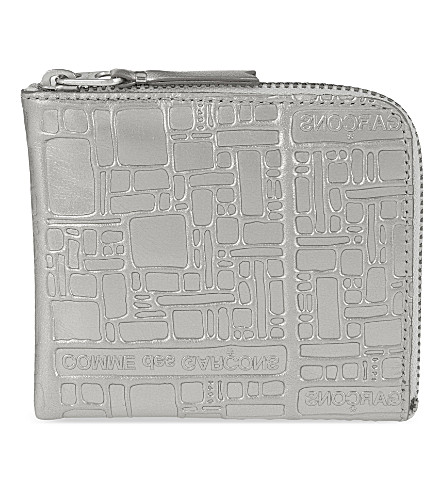 COMME DES GARCONS Embossed wallet (Silver