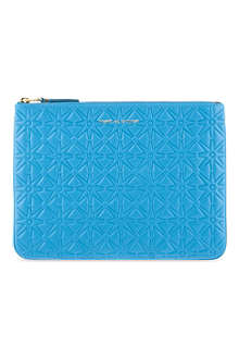 COMME DES GARCONS Geometric embossed large pouch
