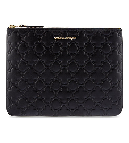 COMME DES GARCONS Embossed large pouch (Black