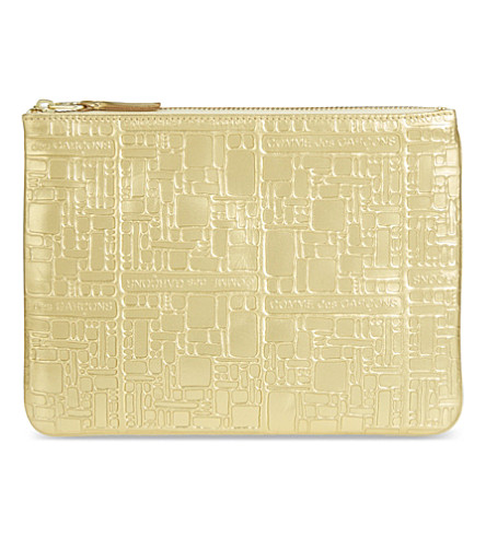 COMME DES GARCONS Embossed pouch (Gold