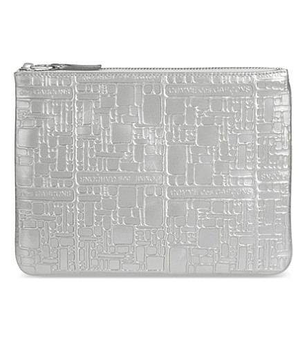 COMME DES GARCONS Embossed pouch (Silver