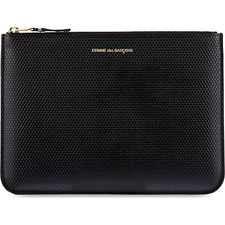 COMME DES GARCONS Luxury embossed pouch (Black