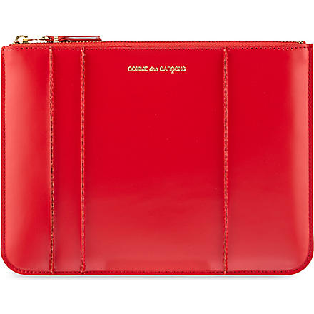 COMME DES GARCONS Raised Spike pouch (Red