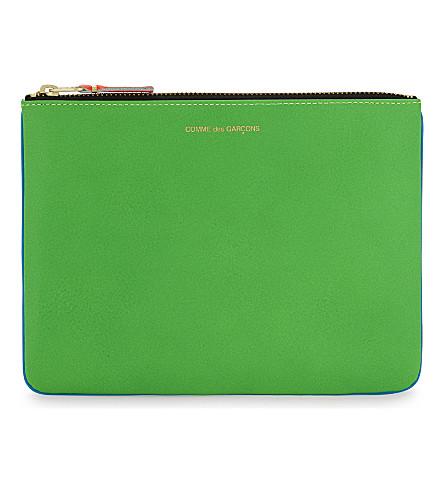 COMME DES GARCONS Super fluorescent pouch large (Blue green