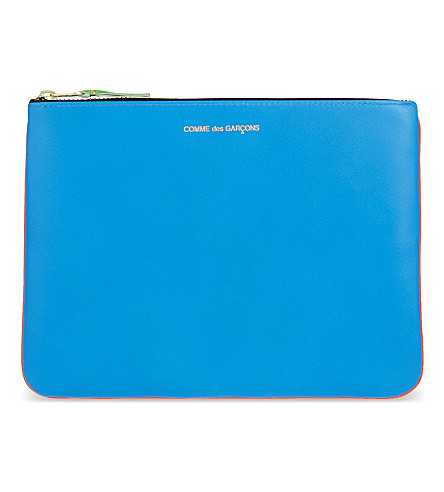 COMME DES GARCONS Super fluorescent pouch large (Blue