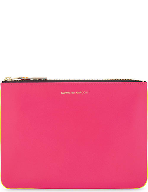 Wallet for Women, Fluo Pink, Leather, 2017, One size Comme Des Gar?ons