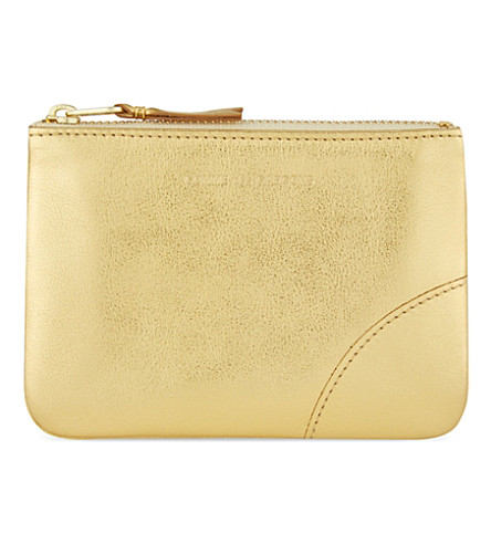 COMME DES GARCONS Leather pouch small (Gold
