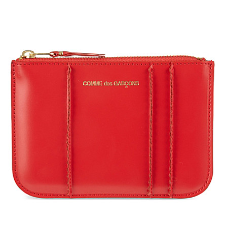 COMME DES GARCONS Small spike coin purse (Red