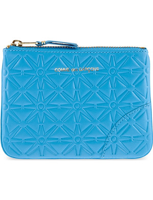 COMME DES GARCONS Geometric embossed pouch