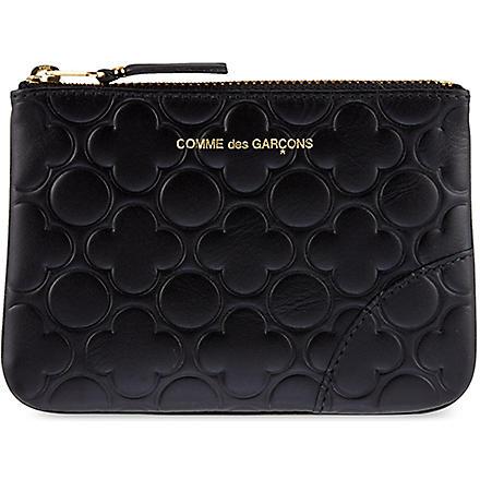 COMME DES GARCONS Embossed pouch (Black