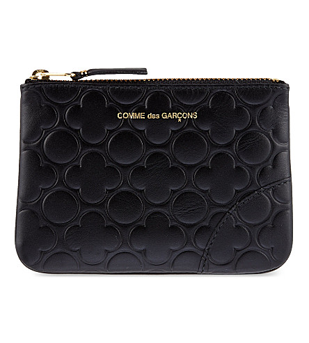 COMME DES GARCONS Embossed pouch (Black