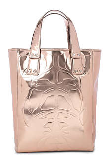 MCQ ALEXANDER MCQUEEN Kingsland embossed leather tote