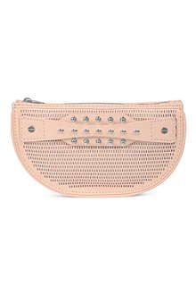 MCQ ALEXANDER MCQUEEN Perforated leather clutch