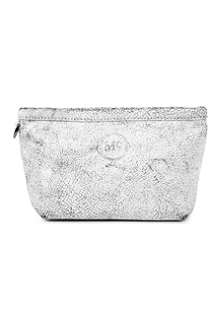 MCQ ALEXANDER MCQUEEN Crackled leather make-up bag