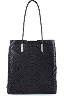 MCQ ALEXANDER MCQUEEN Slashed leather shopper