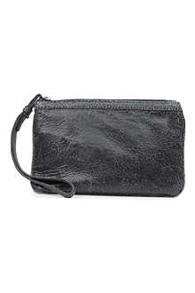 MCQ ALEXANDER MCQUEEN Crackled leather coin pouch