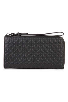 MCQ ALEXANDER MCQUEEN Embossed leather zip wallet