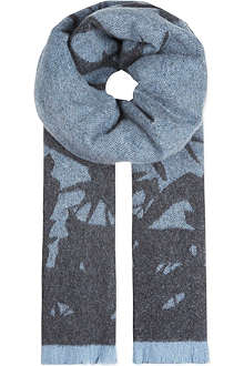 MCQ ALEXANDER MCQUEEN Swallows wool scarf