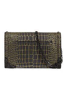 MCQ ALEXANDER MCQUEEN Metallic croc-embossed bag