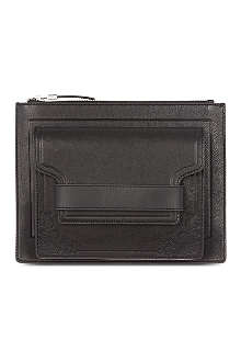 MCQ ALEXANDER MCQUEEN Embossed leather clutch