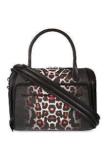 MCQ ALEXANDER MCQUEEN Leopard print bowling bag