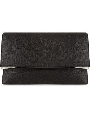 MCQ ALEXANDER MCQUEEN Soft leather foldover clutch