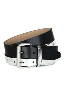 MCQ ALEXANDER MCQUEEN Two-tone leather belt