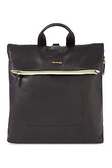 MCQ ALEXANDER MCQUEEN Contrast leather fold-over backpack