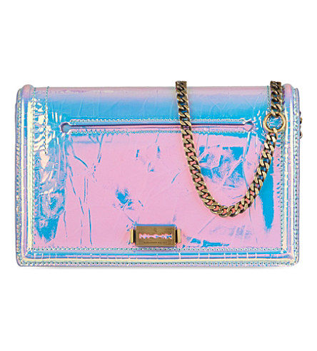 MCQ ALEXANDER MCQUEEN Hologram Laser leather shoulder bag (Laser
