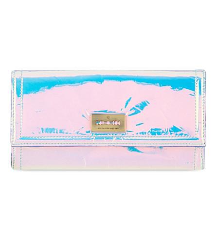 MCQ ALEXANDER MCQUEEN Flapover hologram wallet (Laser