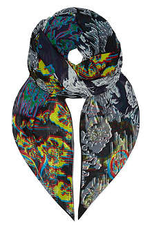 MCQ ALEXANDER MCQUEEN Dripping broc scarf