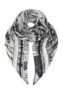 MCQ ALEXANDER MCQUEEN Manga print scarf