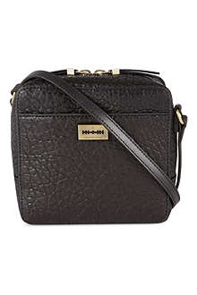 MCQ ALEXANDER MCQUEEN Black mini box cross-body bag