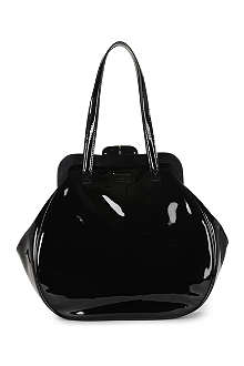 LULU GUINNESS Large Patent Pollyanna bag