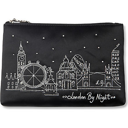 LULU GUINNESS London by Night pouch (Black
