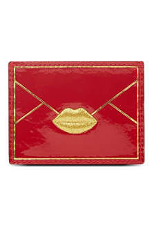 LULU GUINNESS Patent card holder