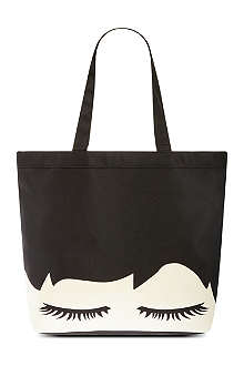 LULU GUINNESS Luisa eyelash print shopper