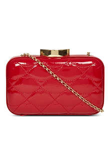 LULU GUINNESS Quilted lips clutch
