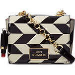 LULU GUINNESS Chevron Verity cross-body bag