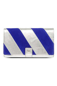 LULU GUINNESS Penelope leather clutch