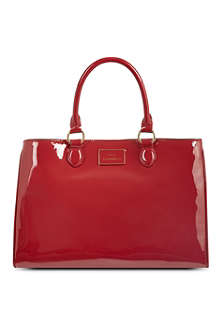LULU GUINNESS Amelia large patent leather tote