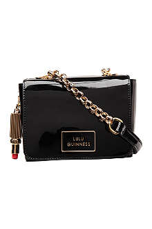 LULU GUINNESS Verity patent shoulder bag