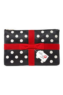 LULU GUINNESS With Love large satin pouch