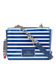 LULU GUINNESS Verity striped shoulder bag