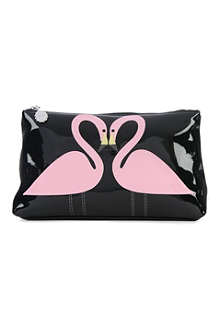 LULU GUINNESS Kissing Flamingos pouch